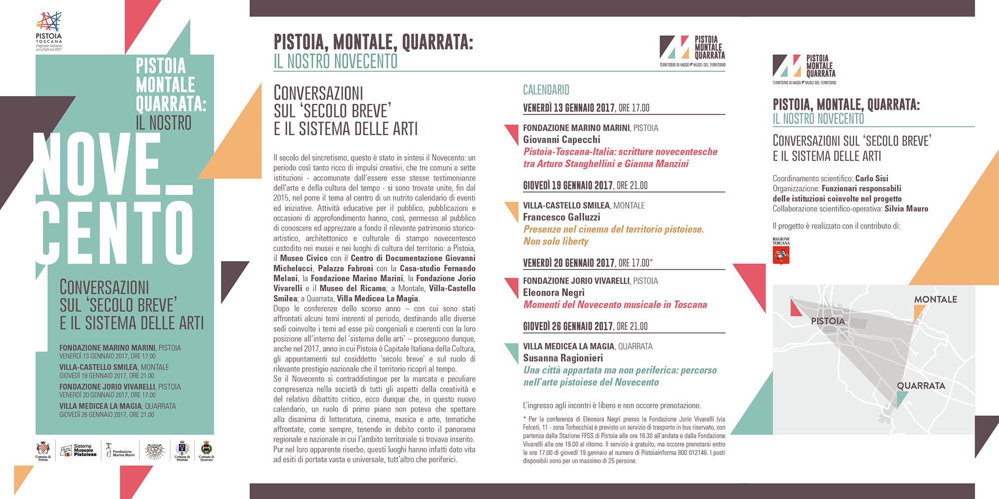 pistoia e il novecento calendario conferenze